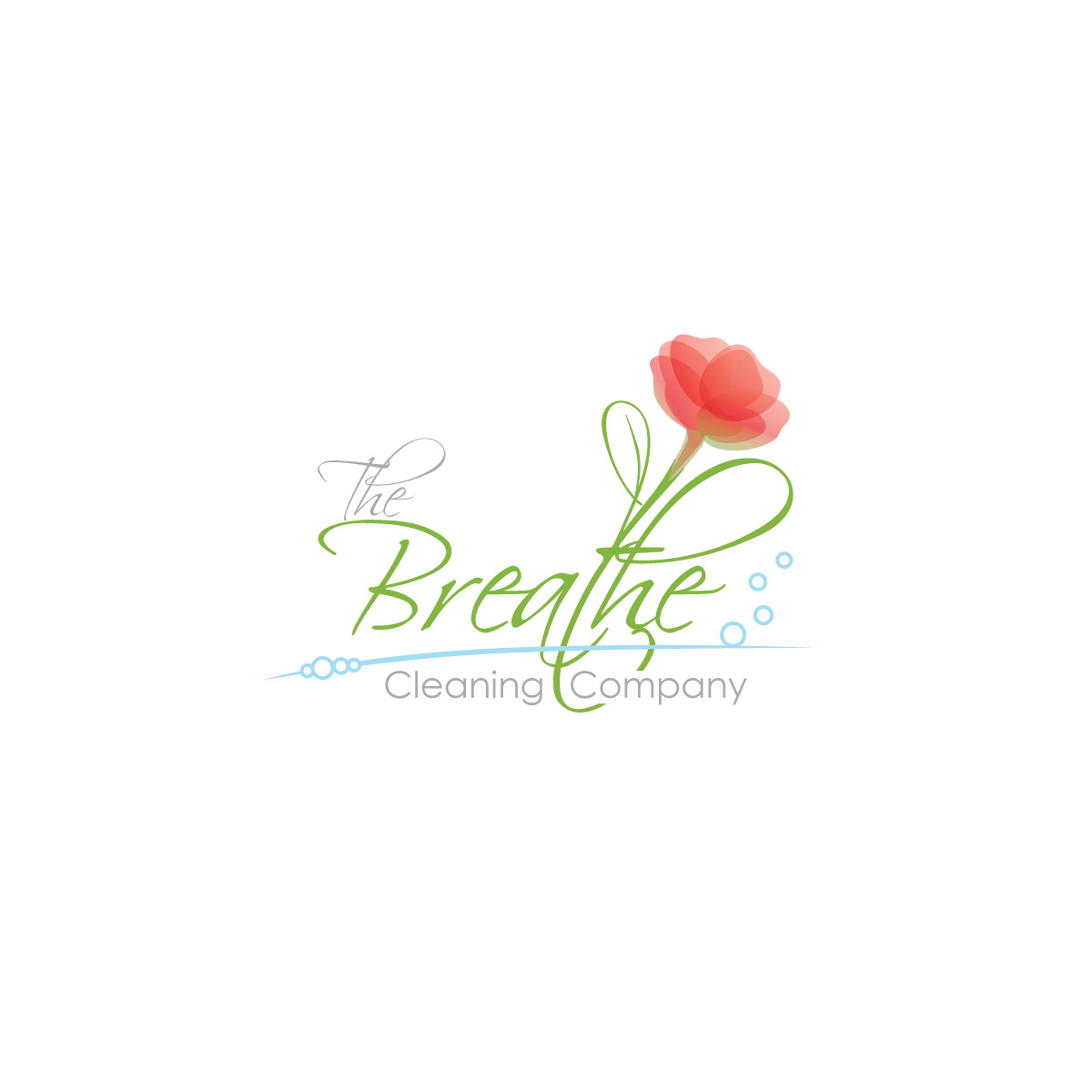 Logo The Breathe Cleaning Company realizacje Realizacje the breathe cleaning company logo